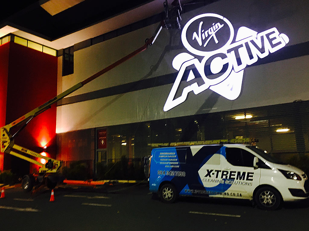 Virgin Active Building Wash Down