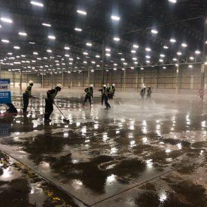 Warehouse Floor Clean