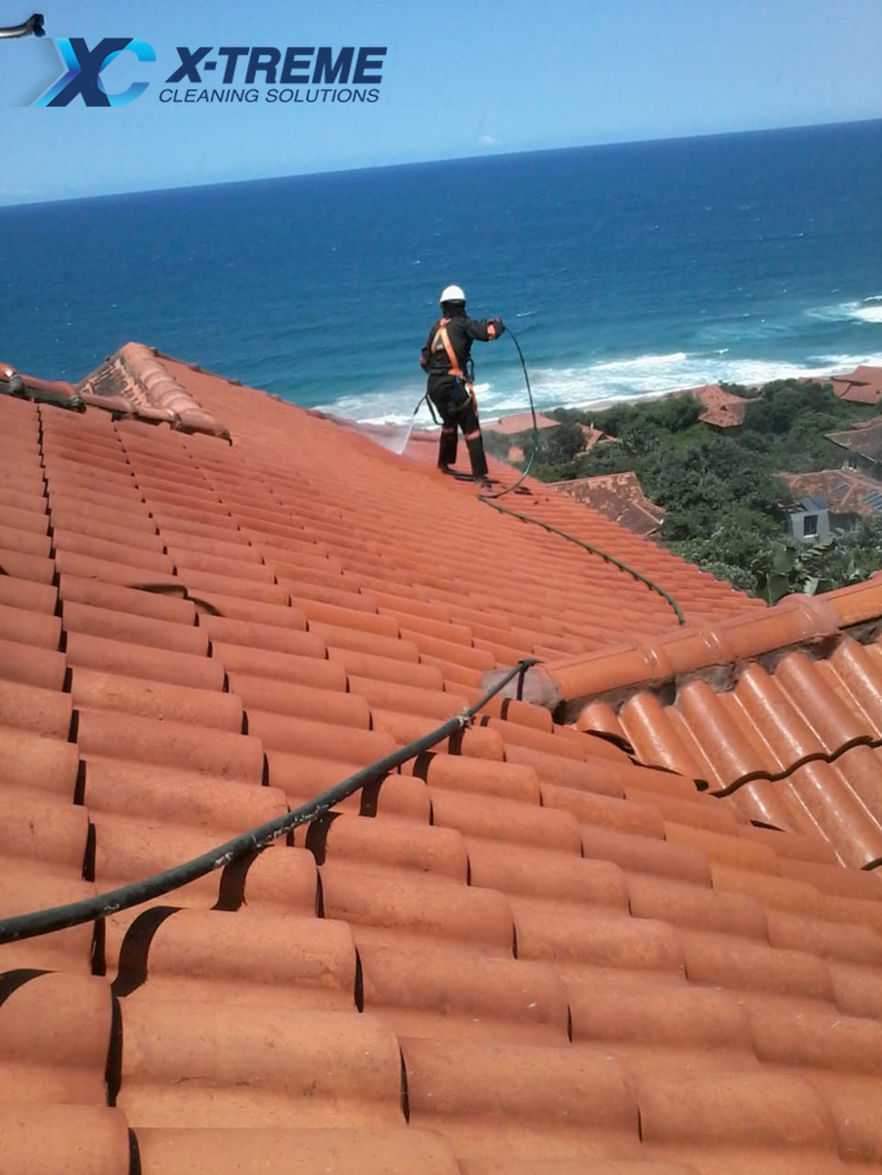 Zimbali Roof Cleaning In Process - Views